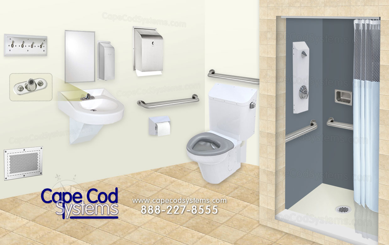 Ligature Resistant Bathroom Products, Cape Cod Systems