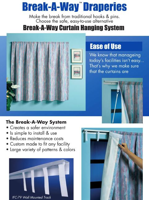 Break A Way Track Ccsi79 Psychiatric Curtains