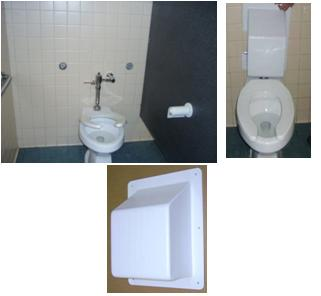 Suicide Resistant Plumbing Cover For Toilets